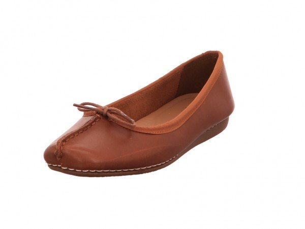 Bild 1 - Clarks Ballerina Leather DARK TAN