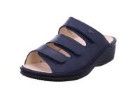 Finn Comfort Comfortpantolette Glattleder blau
