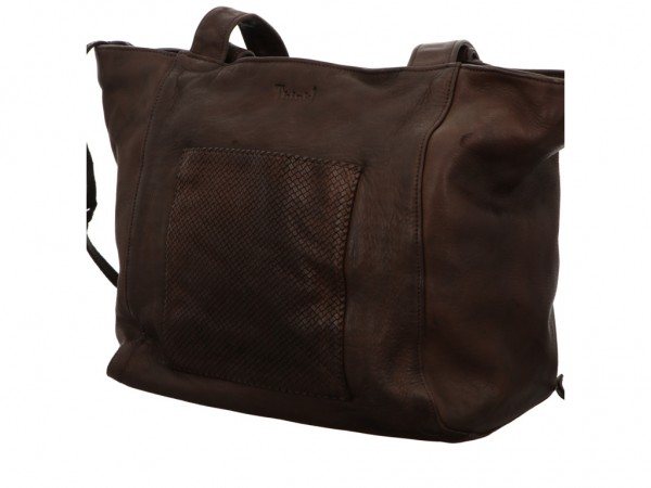 Bild 1 - Think Handtasche WASHED LAVATO MOCCA 3