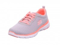 Skechers Damensportschuh Mesh/Trim lt.gray/hot pink LGHP